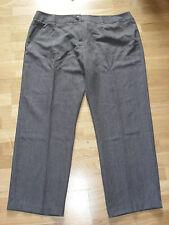 cotton traders grey herringbone trousers size 12 petite leg 27 brand new & tags