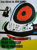 MIRO Joan Affiche Originale Lithographie 1970 Abstrait