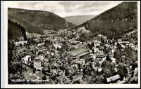 WILDBAD Schwarzwald AK 1952 s/w Gesamtansicht Foto alte Postkarte