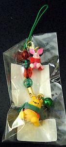 Japan Disney Store~Xmas Pooh and Piglet Phone Strap