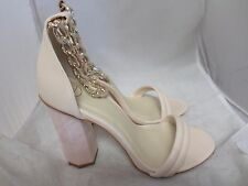 1b5be752295 Missguided Rose Gold Chunky Chain Strap Block Heel Sandals UK 7 EU 40 Lg04  86