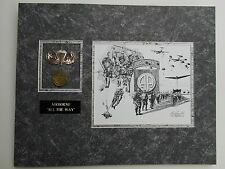 AIRBORNE ALL THE WAY     82nd ABN art with jump wings, coin, and engraving!