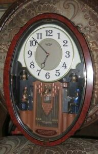 RHYTHM ANIMATED ORGANISTS MUSICAL CLOCK EXCELLENT #4MH749-R23 Box instructs