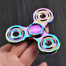 Cool Rainbow EDC Fidget Triangle Hand Spinner Metal ADHD Autism Focus Finger Toy