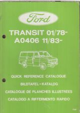 FORD TRANSIT MK2 VAN MINIBUS CHASSIS CAB 78-85 FACTORY PICTORIAL PARTS CATALOGUE