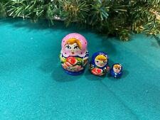 Russian Nesting Dolls Miniature Set! 3 pcs Beautiful Gift!