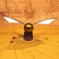 Harry Potter Hogwarts Quidditch Golden Figures Snitch Exact Replica on Pedestal