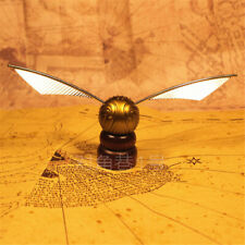 Harry Potter Hogwarts Quidditch Golden Figures Snitch Exact Replica on Pedestal