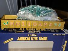 American Flyer #6-48335 Holiday Gondola w/Christmas Trees NEW  - Lot # 650