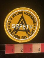 Vtg Gas Industry Safety 2.5 Million Hrs JU'AAH GAS PLANT Advertising Patch 96B7