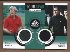 2014 SP Game Used Tour Gear Dual #TG2JG Johnny Miller/Gary Player B - NM-MT