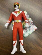 """Red GOKAIGER Sentai Legend Hero Series Bandai vinyl 7"""" figure plus hang tag RARE"""