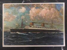 Mint WW 1 Germany Norddeutscher Loyd Bremen Boat Europa Cargo Ship Postcard