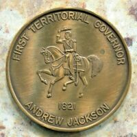 BEAUTIFUL HISTORICAL SPRINGTIME TALLAHASSEE 1ST TERRITORIAL GOVERNOR MEDAL, 1977