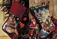 🎄 Set 2 Christmas Stockings ST. BASIL'S and SANTA & FRIENDS Cross Stitch Charts