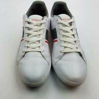 Lacoste Mens Athletic Shoes White Lace Up Low Top Logo Sneakers 12 M