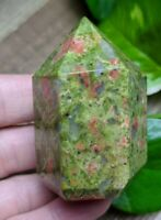 ONE (1) UNAKITE Chunky Abstract Generator Crystal Reiki Charged *Read Below*
