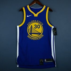 100% Authentic Stephen Curry Nike Warriors Icon Jersey Size 52 XL Mens