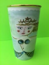Starbucks 2014 Dot Collection Ceramic Mermaid Siren Tumbler