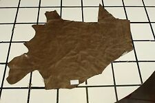 """Country Wagon"" Brown Scrap Leather Hide Approx. 11 sqft. G88Z2-7"