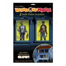 Halloween Zombie Brillante decoraciones de ventana Mágica Grande X 2