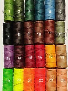 10m Makramee Garn 43xFarben Perlen Schnur 1mm Quality gewachst  Bastel UV String