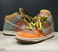 2007 Nike Dunk High Premium Orange Blaze/Blur/Cognac SB Size 12 #312786 891