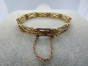 Antique 1920s 15ct Gold Decorative Link Chain Bracelet 14.7g