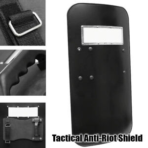 Tactical Anti-Riot Shield Black Handheld PC Plastic Self Protection Securities