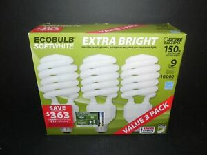 FEIT Electric - ECOBULB Softwhite 150W Extra Bright 3 Pack - NEW - Free Ship!