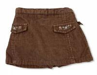 Vintage McBaby Baby Girl Corduroy Brown Skirt Skirt Shorts Sz 3-6 Months