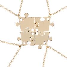 BFF Necklace Puzzle Best Friend Necklaces Pendant Friendship Jewelry Charm - 4pc