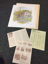 "Howard Fain S/# Edition 500 ""Old Mill"" 1973 NIF Wheels of Progress"