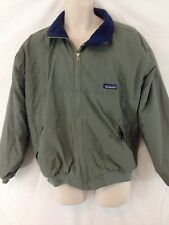 Patagonia Mens M Green Fleece Lined Zip Front Waterproof Squall Jacket