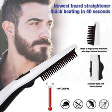 Electric Beard Straightener Comb Quick Heated Brush Styler For Men Travel Hair