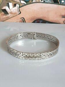 Phantastisches Armband Silber 835, hochwertig verarbeitet, geschmeidig