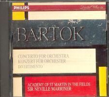 BARTOK - Concerto For Orchestra / Divertimento - Neville MARRINER - Philips