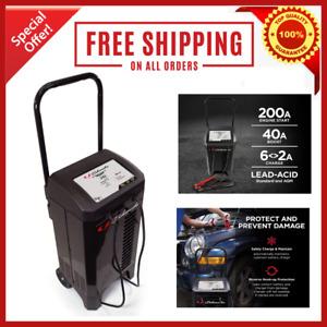 New Schumacher Heavy Duty 200 Amp Wheeled 6 & 12 Volt Battery Starter Charger