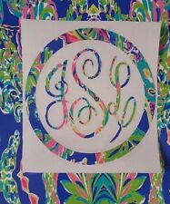 Gift for Women Monogram for your Coffee Cup, Laptop, ETC! Lilly Pattern Monogr