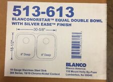 Blanco 'Blancostar' Small Equal Double Bowl Undermount Sink 513-613