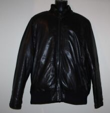 TUMI Alpha Black Leather Bomber Jacket Size Large MSRP $ 1,195
