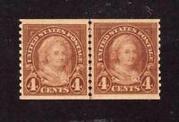 United States stamp #601, Line Pair, MHOG, XF, SCV $40.00