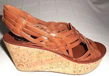 23bfe13ab6b Tory Burch Royal Tan Killian Mid Wedge-antique Veg Leather Platformsz11 Mwas