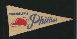"1960's Philadelphia Phillies 3.5"" Decal Baseball MLB Post Cereal Mini Pennant"