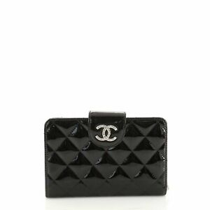 Chanel Brilliant CC French Wallet Quilted Patent