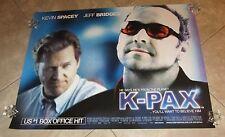 K-PAX movie poster JEFF BRIDGES poster, KEVIN SPACEY poster