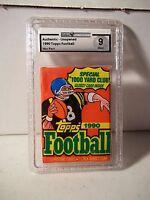 1990 Topps Football Wax Pack GAI Mint 9 Possible Junior Seau RC NFL Card