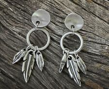 e5151fcb216e Pendientes de bisutería color principal plata plumas