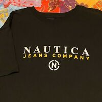 Nautica Jeans Company T Shirt Adult XL Black