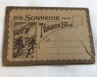 Vintage Souvenir From Niagara Falls Postcard Folder Accordion Style Book